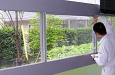 窓ガラス洗浄