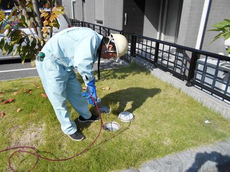外回り排水の排水管洗浄